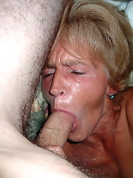 Grannies blowjob