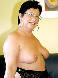 54 year old grannie Lena takes off her clothes