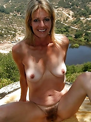 Over 50 milf Terry showcases her tanned body
